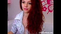 sexy redhead strips and masturbates(1).flv Thumbnail