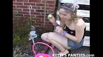 Petite teen Kitty in a Hula Girl costume />  <span class=
