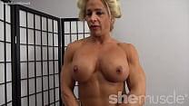 Naked Female Bodybuilder Pinup Girl