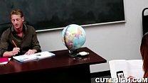 Naughty Girl Seduces Her Older Teacher
