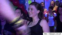 Juicy women drinking on disco party