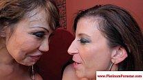 Ava Devine and Sara Jay share his cum