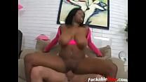 Busty black woman interracial