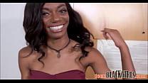 Sexy Petite Black Ebony Teen Casting Chanel Sky...