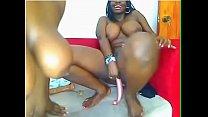 Nigerian Princesses dildo fucking each other - ...