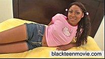 Barely Legal 18 yr old cute black teen babe tak...