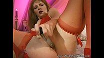 Redhead MILF Wife Solo Dildo Play