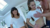 Threesome anal scene with Mona Kim & Jenny Glam by Ass Traffic