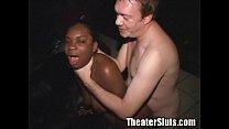theater porn the at off fucking slut Ebony