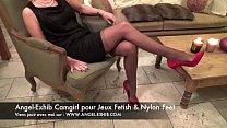 fetish nylon pieds jambes et bas avec milf fran...