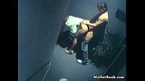 hidden webcam captures hallway sex