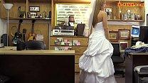 Slut in wedding dress railed by pawn guy