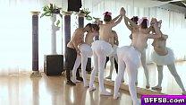 The Ballerinas blowjob their instructor