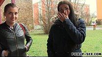 Czech girl flashes her ass and screwed