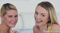 Seductive Lesbians Abby Cross and Molly Mae