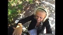 Czech Blondie in Public Invasion Sucking and Fu...