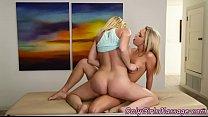 Perfect lesbians tribbing after massage