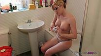 jodie ellen   get moisturized   1min preview horny blonde rubs oil into her bigt