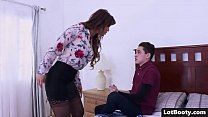 Fat ass and big tits MILF gets anal fucked and ...