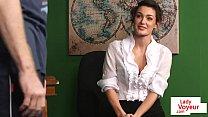 Stockinged british teacher watches sub tug Thumbnail