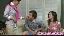 Strict stepmom caught her stepdaughter blowing her boyfriend