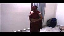 Indian Bhabhi dance with devar In Red Saree