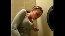 Public toilet masturbation and orgasm thumb