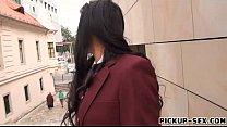 Schoolgirl Tricia Teen sucks off and screwed for money