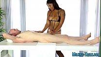 Ebony masseuse spunked