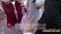 Amazing wedding fuck with Gianna Dior & Bridesm...