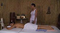 Massage Rooms British Indian Sahara Knite and Latina babe oily tribbing