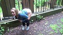Naughty british babe Ashley Riders outdoor flas... Thumbnail
