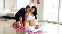 PornPros - Hot ebony girl Karmen Bella gags on cock