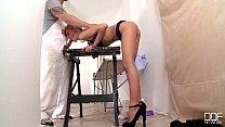 Russian blondes Lola Taylor & Angel Black deliver supreme extreme blowjob