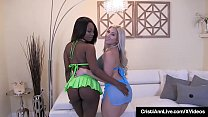 Asian Latina Cristi Ann & Ebony Skyler Nicole Eat Wet Pussy!
