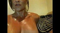 Brazilian MILF masturbates until she squirts ta...