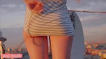 Jeny Smith fishnet pantyhose public photo set