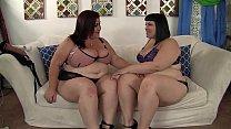 Horny lesbian BBWs Alexxxis Allure and Lady Lyn...