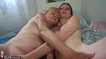 Nice Old granny teaches Nice girl masturbate