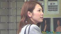 Japanese babe solo rubs
