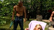 Russian blonde temptress performs a gorgeous do...