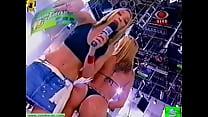 Paloma Fiuza striptease white shorts