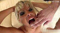 amour model deep throat swallow
