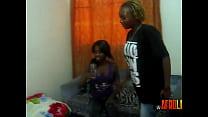 Kenyan lesbians with big tits eat pussy