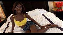 Young ebony 18yo teen slut gets cumshot in Ebony Facial Amateur Video