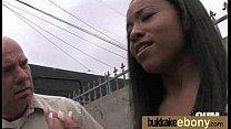 Ebony babe sucks too many white cocks 20