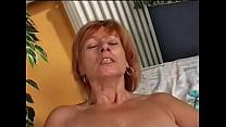 herself doing mature's Redhead