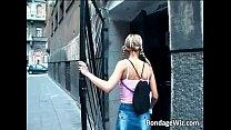 Bondage blonde slut is in doctors office