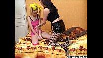 Pussy Licking Lesbian Slave Mistress Couple