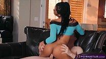 Beautiful ebony pornstar having rough anal sex